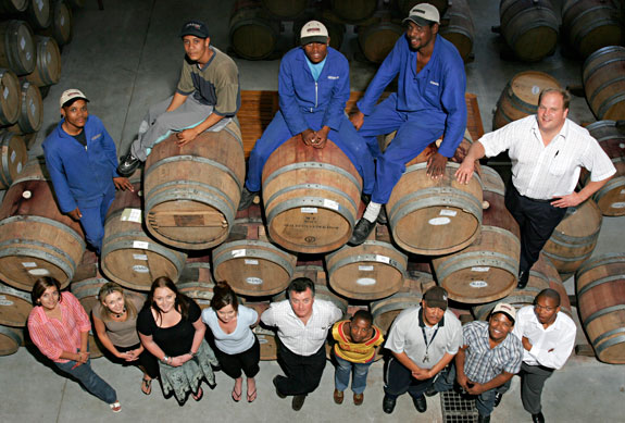 Bruce Jack and his winemaking family at the Flagstone Winery