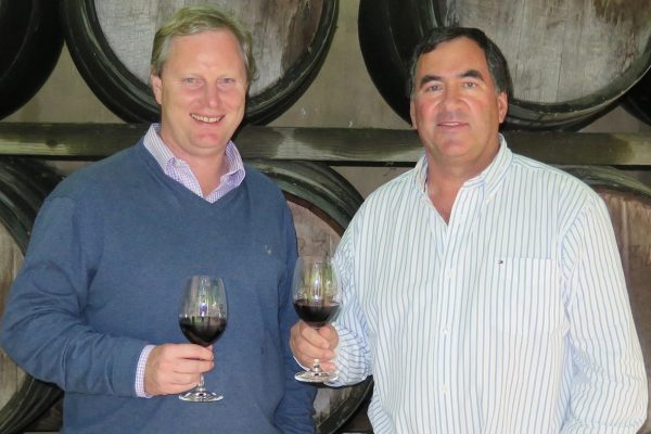 Exciting times ahead for Kleine Zalze owner, Kobus Basson, right, and cellar master, Alastair Rimmer. Photo: michaeloliver.co.za