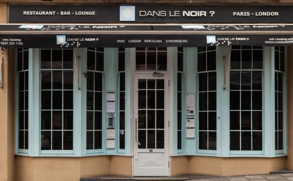 Exterior Image of Dans le Noir Restaurant, London