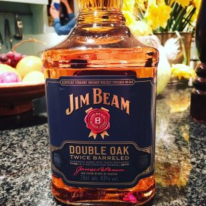 Image of new Jim Beam bourbon Double Oak in bottle
