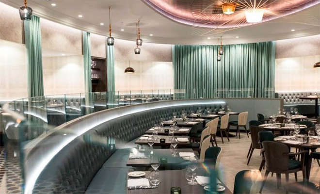 The main dining room at Victoria appears like a stage away from the rest of the venue