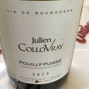 The Buyer The Vintner Tasting Julien Collovray Puillty-Fuisse