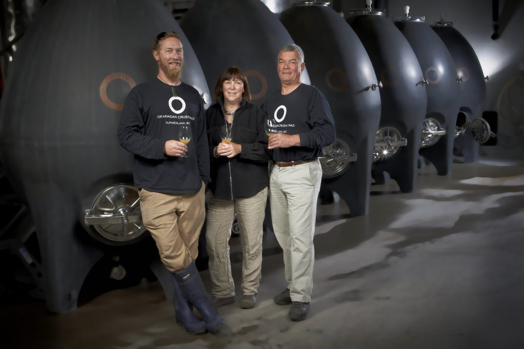 Chief winemaker Matt Dumayne, Christine Coletta (owner) and Steve Lornie (owner).