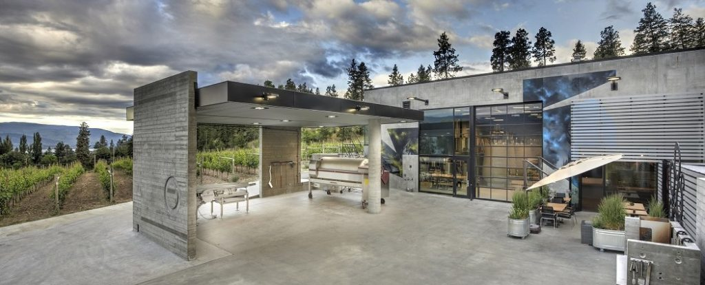 The very stylish setting for the Okanagan Crush Pad Winery