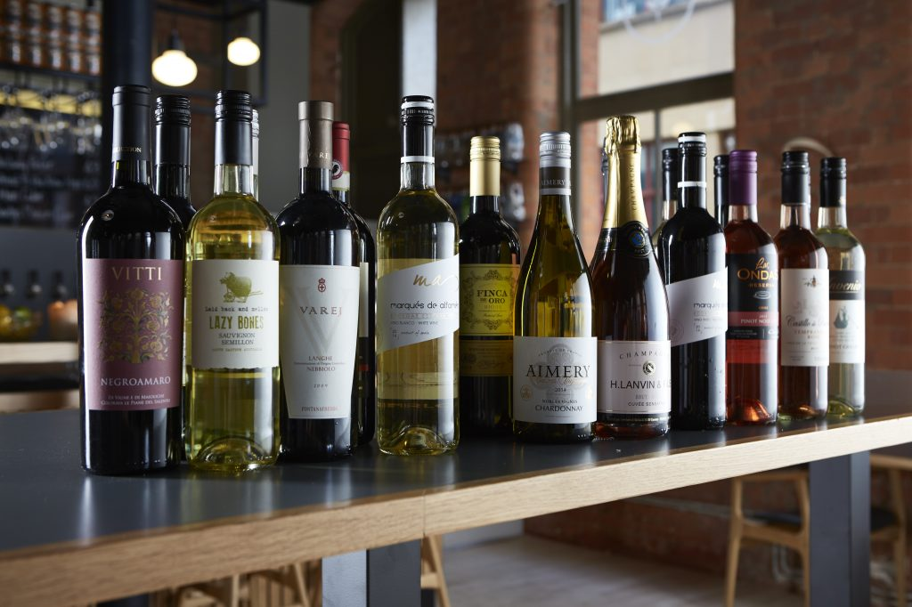 Some of the wines that make up Crown Cellars 500 plus range of wines