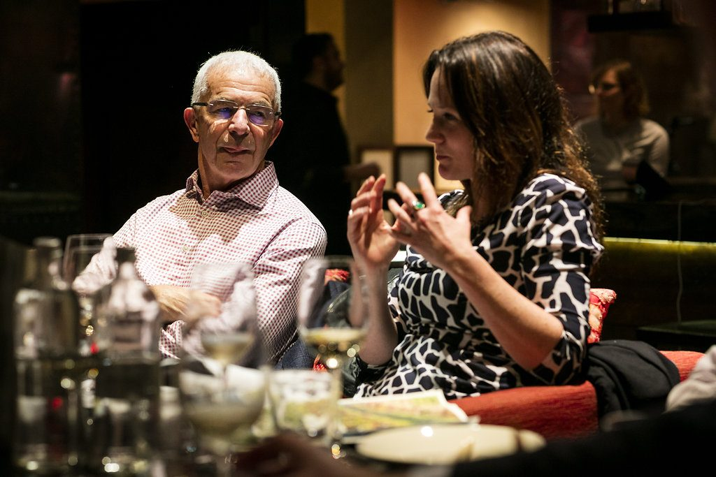 Melanie Brown sets out her case for New Zealand wine with Villa Maria's Sir George Fistonich