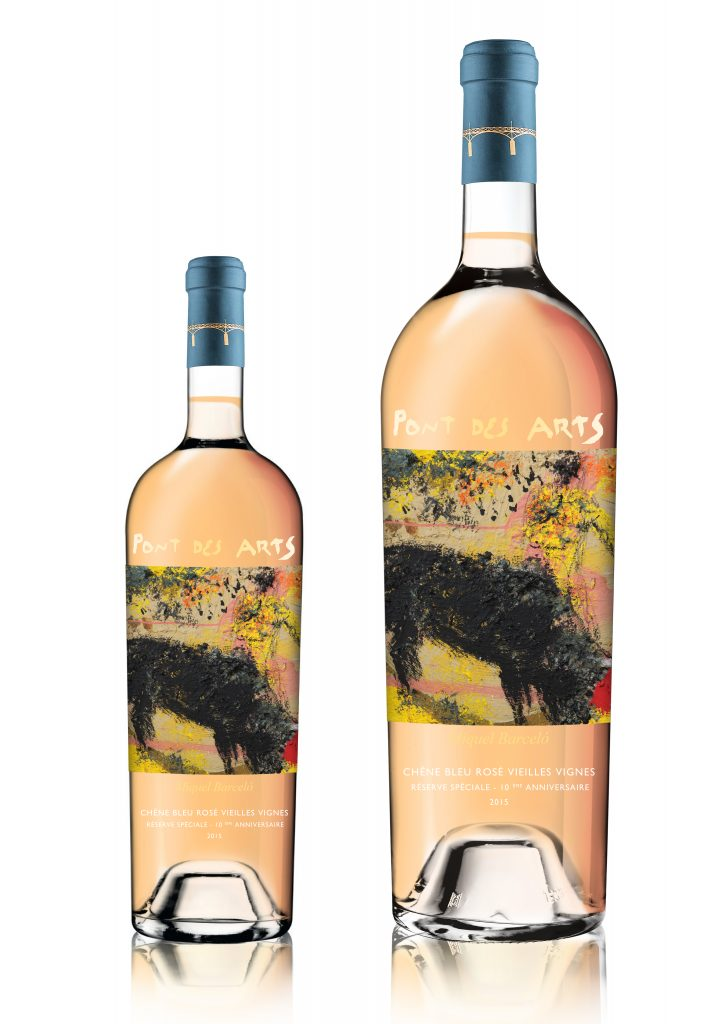The Pont des Arts rosé with label designed by Miquel Barcelo