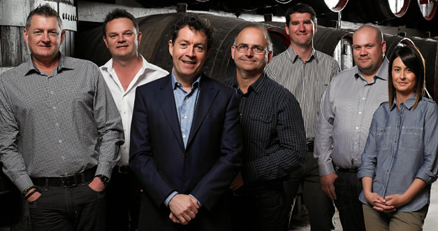 All as one: Peter Gago with some of the Penfolds' winemaking team