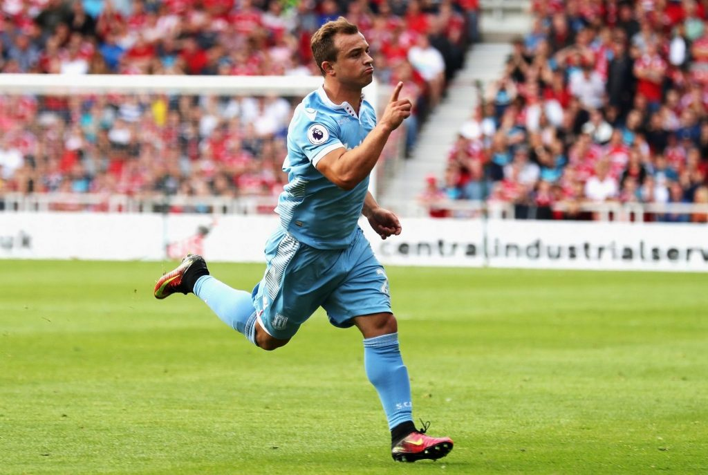 Good start to season as Xherdan Shaqiri earnt Stoke a draw at newly promoted Middlesbrough