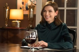 The never drunk glass of wine in The Good Wife