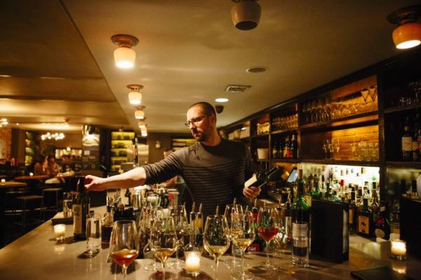 David Foss wine buyer at Anfora in New York, (www.wsj.com)