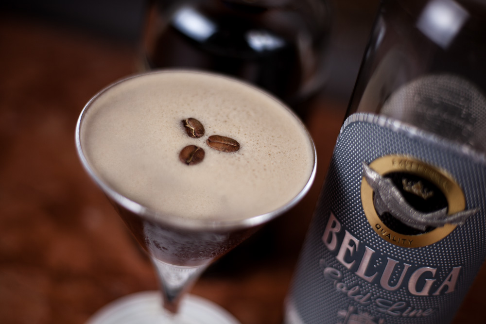 Espresso martini with Beluga vodka and Difference Coffee at Harry's Bar, Mayfair