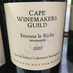 Cape Winemakers Guild Auction Tasting 2016
