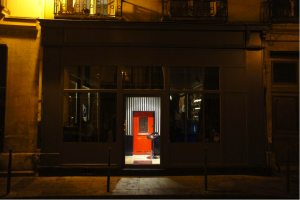 The Little Red Door in Paris...lives up to its name.