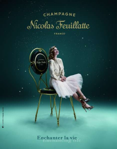 The new advertising campaign for Nicolas Feuillatte