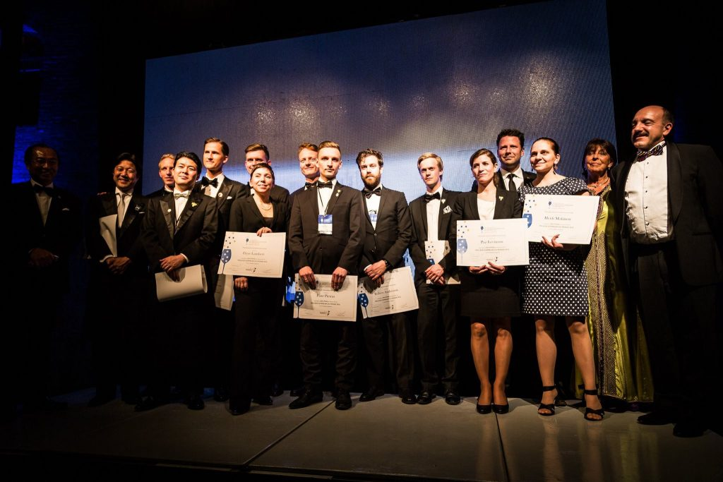 Pietras with some of his fellow competitors at the finals of the Best Sommelier of The World in Mendoza, Argentina