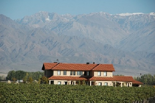 The beautifully located Son Vida winery in the foothills of the Andes in Altamira in the Uco Valley