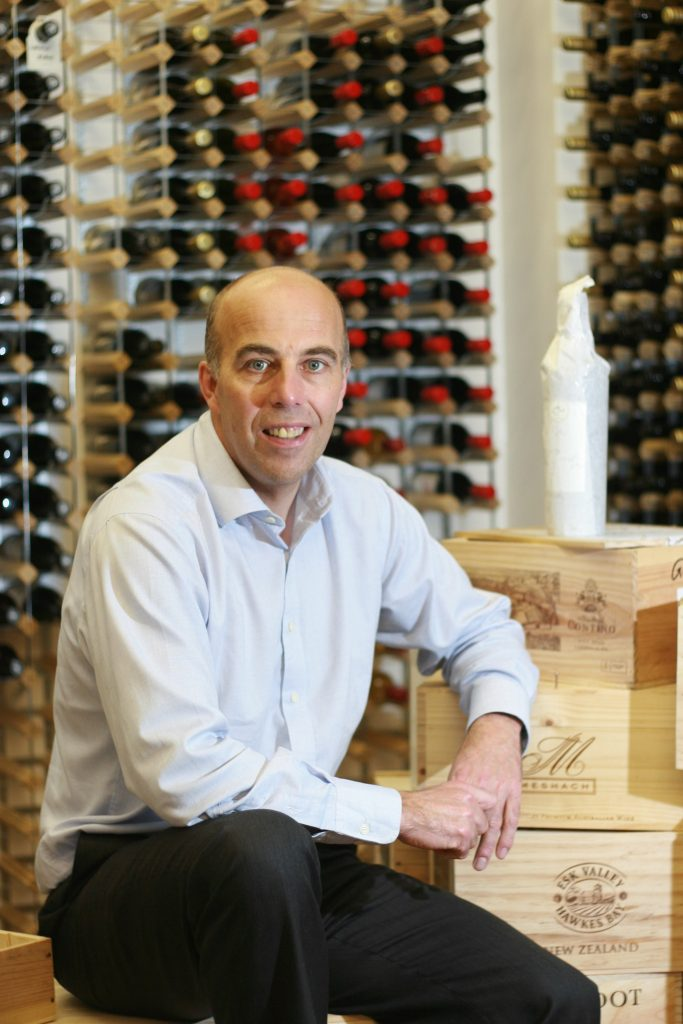 Mark Calver has become a specialist in wine by tap systems
