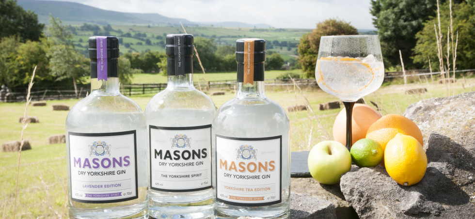 Where possible the Masons use locally sourced ingredients across Yorkshire for their gins