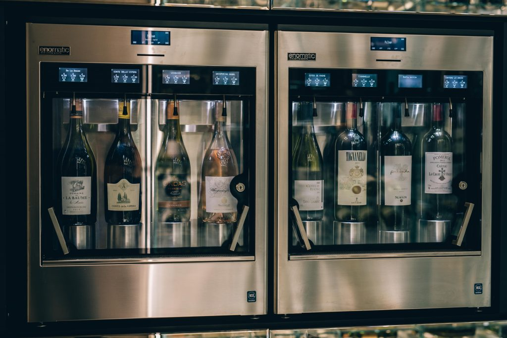 Berkmann has helped the Pullman with its wine dispensing range