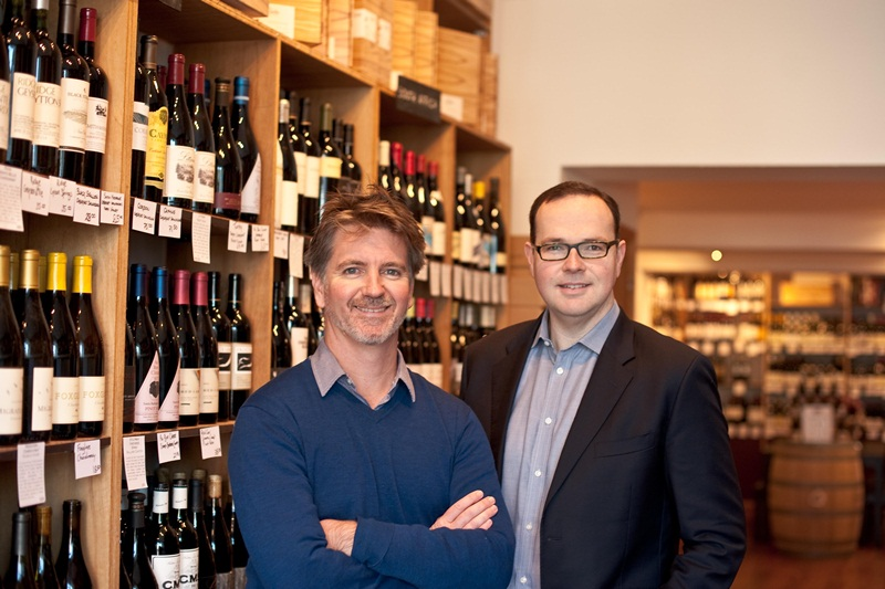 California Wine Institute's new UK ambassadors, Justin Knock and Damien Jackson