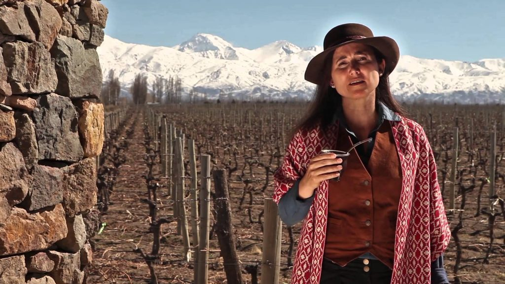 Laura Catena at her beloved Adrianna vineyard high up in the Uco Valley