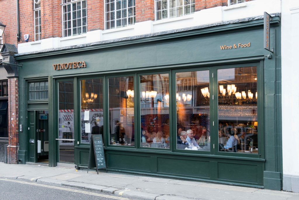 Vinoteca Soho was the group's third site following closely on from Marleybone in 2010