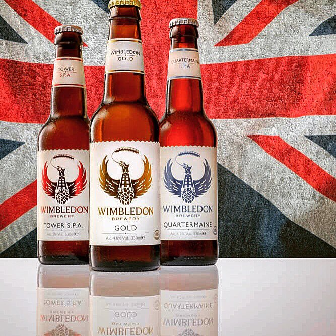 Wimbledon Brewery has been able to play on the Wimbledon name and all the quality credentials it brings