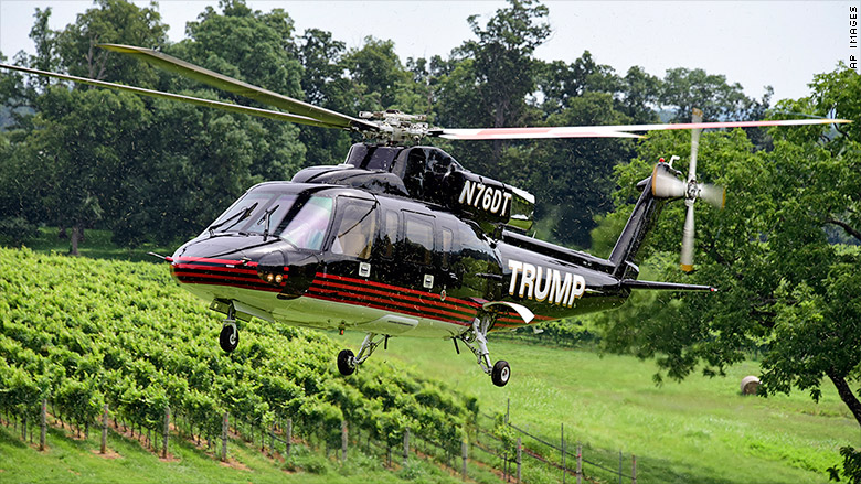 The Trump vineyard has a handy helicopter on hand to help with frost control