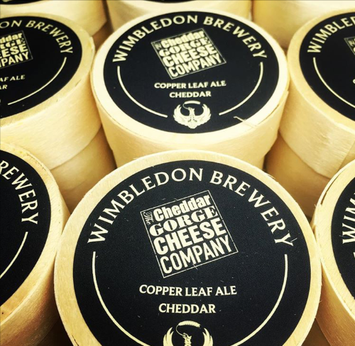 Beer and cheese made with Wimbledon Brewery's Copper Leaf beer