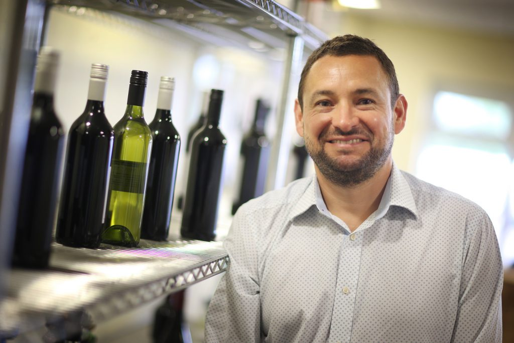 Barney Davis says the on-going challenge is to change people's perceptions about Lanchester Wines and the quality of wine it can offer