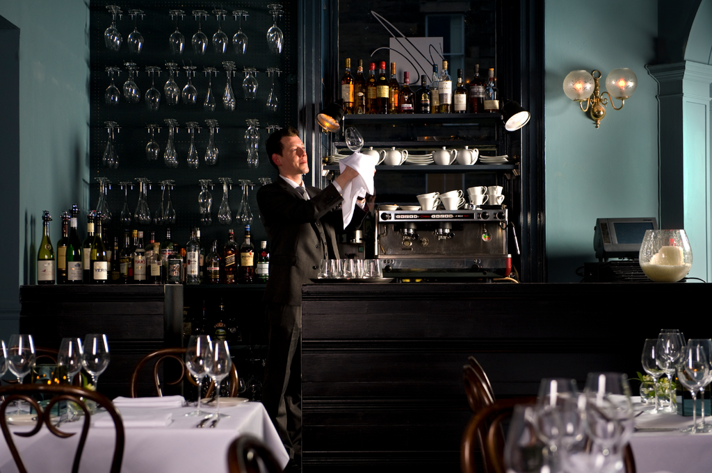 Small but perfectly formed, the restaurant's bar is the perfect spot for a nightcap