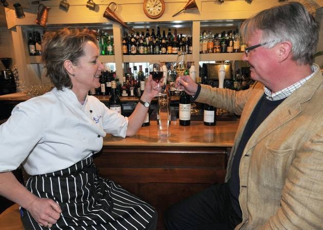 Sophie and Mark Dorber celebrate winning yet another wine pub of the year award for The Anchor at Walberswick