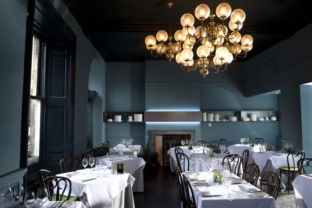 Restaurant Mark Greenaway is situated in an elegant Georgian building in Edinburgh's New Town