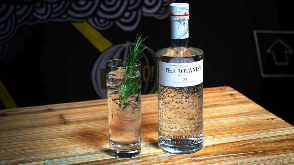 The Botanist gin, made on Islay, is one of the most popular in the restaurant