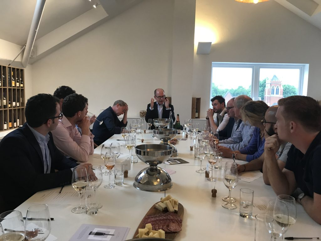 Gusbourne's Neil Irvine leads the panel on a tasting of its wines