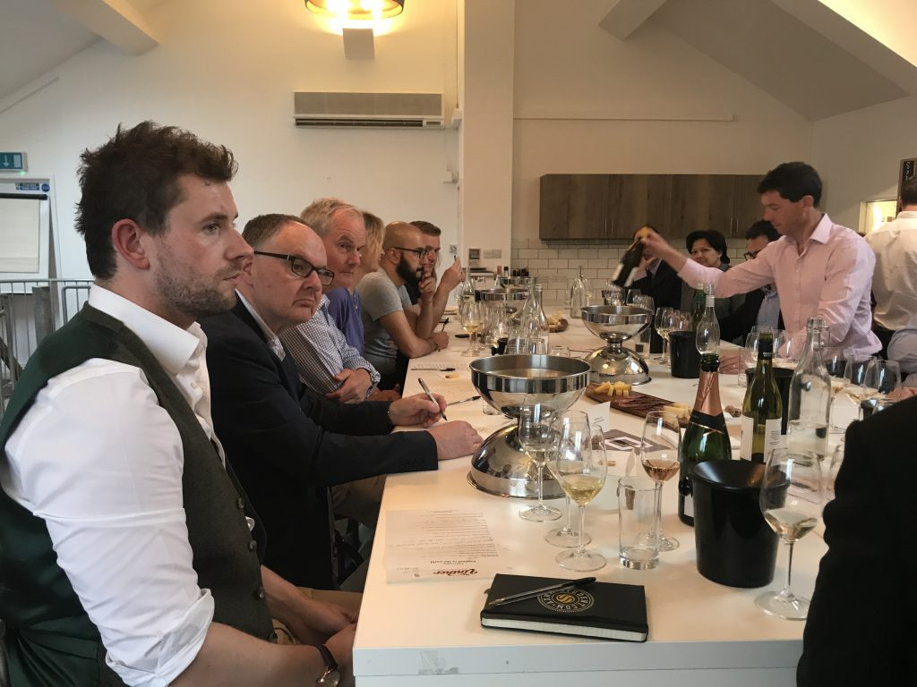 Harry Crowther from M Restaurants listens in on the Gusbourne
