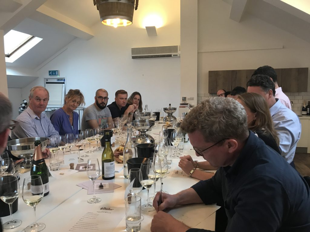 The Vintner tasting included leading on-trade wine buyers and private customers