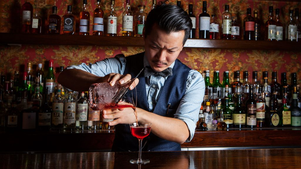 Bar tenders' knowledge levels about spirits is not normally matched by their closeness to wine