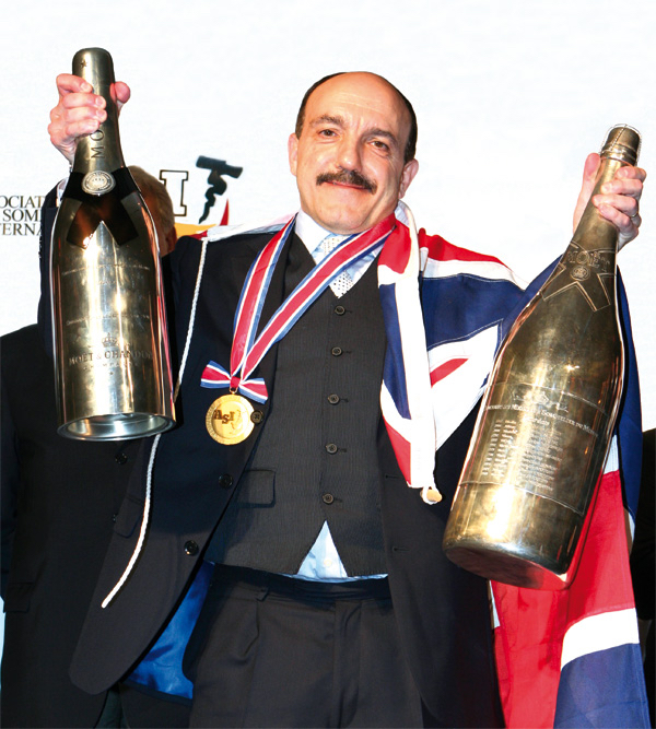 It took Basset 25 years to become world champion sommelier