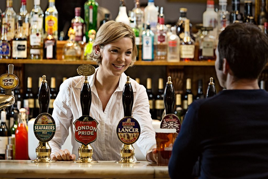 Fullers own the breweries that supply the beer to the pubs they also control
