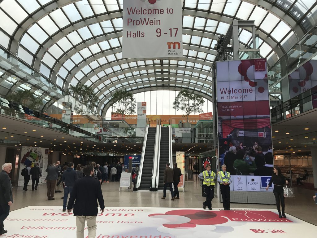 How do we decide which countries and regions to concentrate on when attending global fairs like Prowein