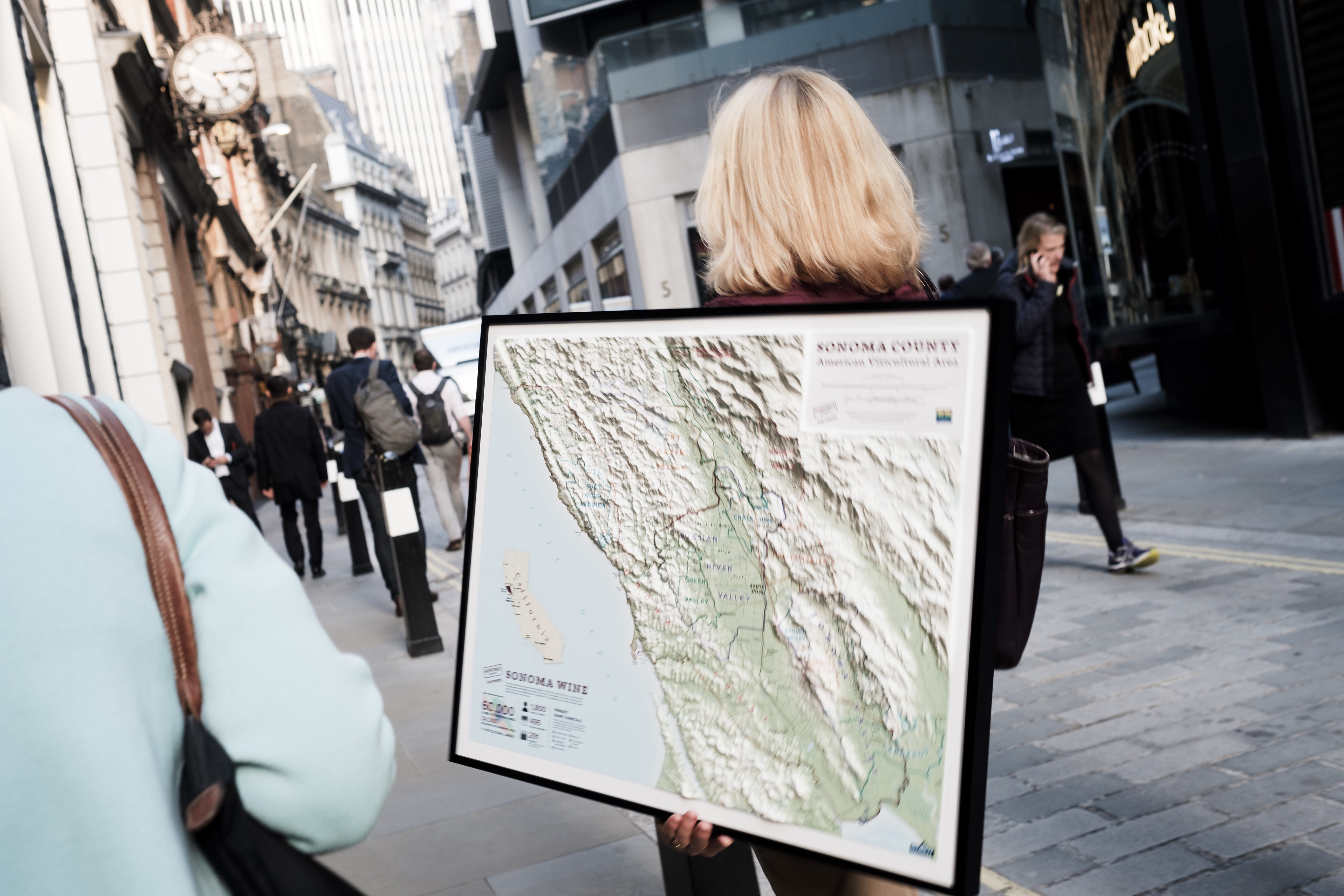 Follow the map: having a map proved useful showing where the wineries were located and even more so following it on route to the next restaurant