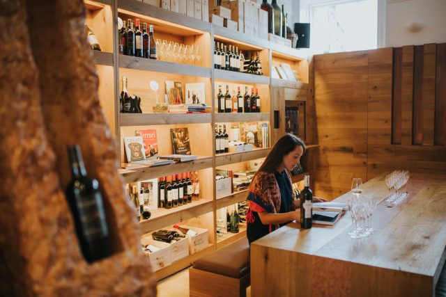 The Wine Library where visitors can choose from a selection of Zonin's wines by the glass or bottle.