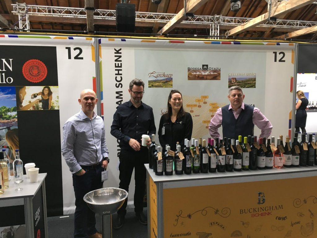 The Buckingham Schenk team all ready to go at the Spanish wine fair