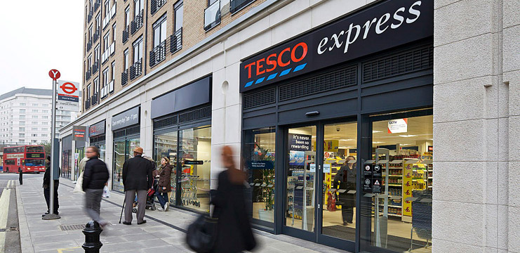 Tesco Express's 2,500 stores is a much smaller chain than the combined strength of Booker's symbol group fascias