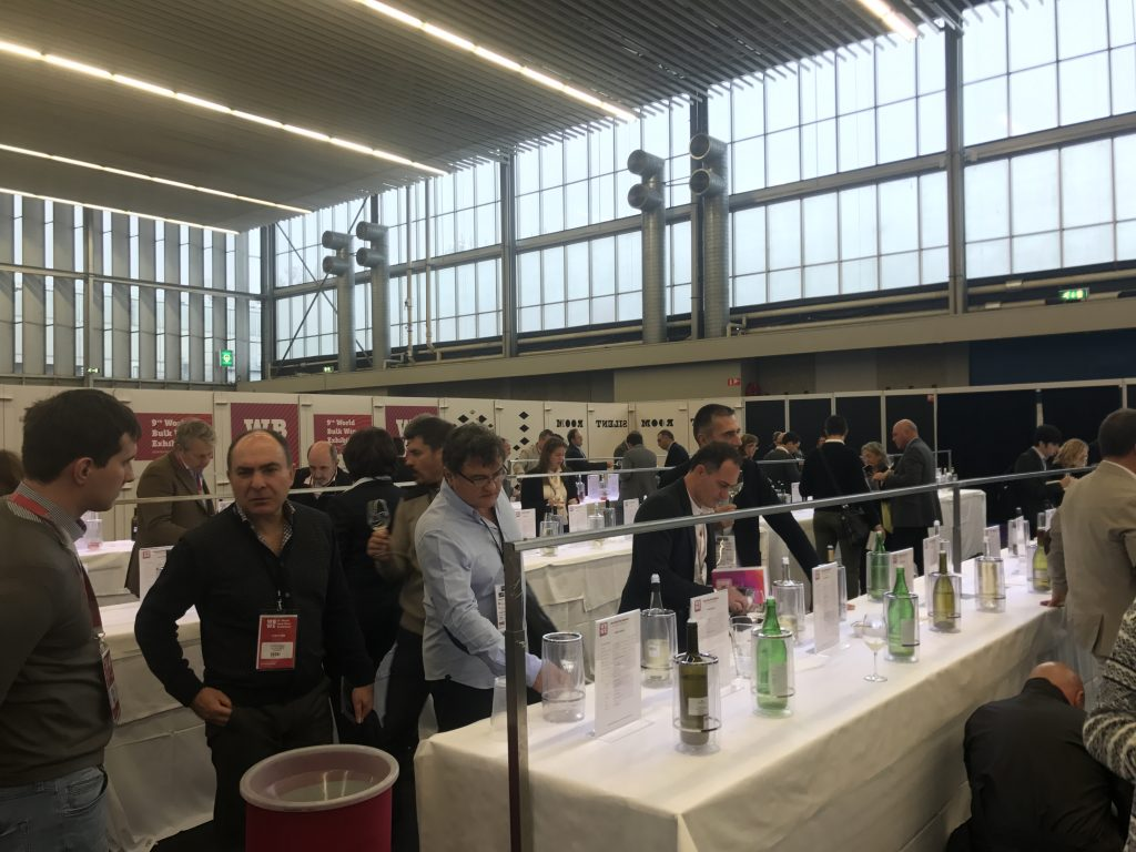 Buyers had to fight over less wine at this year's World Bulk Wine Exhibition