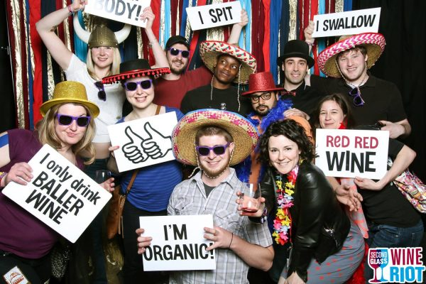 Having fun at a Wine Riot tasting in the US