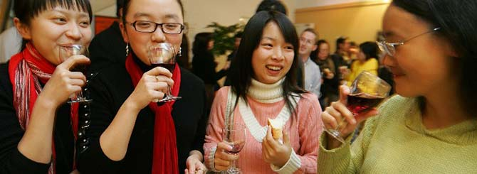 Chinese women are not only getting into wine, they have the personal income to buy premium wines