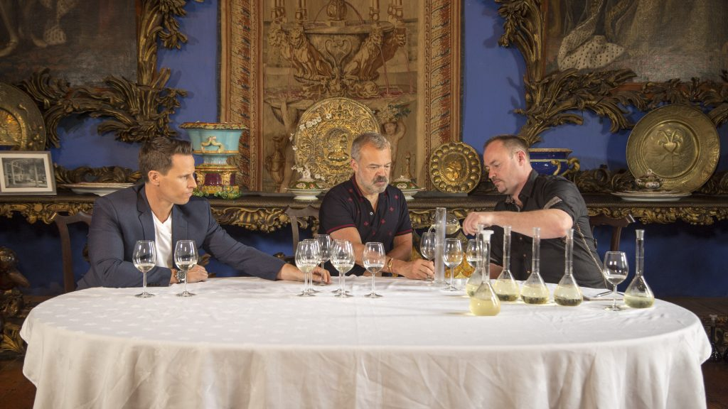 Making it happen: blending wine with Graham Norton
